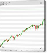 Wall Street Monthly Chart 08/08/2018 Close Acrylic Print
