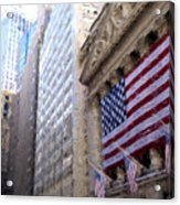 Wall Street, Nyc Acrylic Print