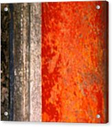 Wall With Red By Michael Fitzpatrick Acrylic Print