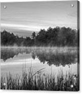 Wallis Sands Marsh Smoke On The Water Rye Nh Black And White Acrylic Print