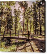 Wallowa Lake Foot Bridge Acrylic Print