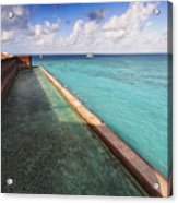 Walls And Moat Of  Fort Jefferson Acrylic Print