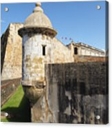 Walls Of San Cristobal Fort San Juan Puerto Rico  Acrylic Print by George Oze