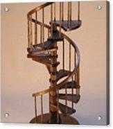 Walnut Spiral Staircase  Acrylic Print by Don Lorenzen