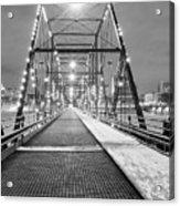 Walnut St. Bridge At Night Acrylic Print