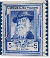 Walt Whitman Postage Stamp Acrylic Print