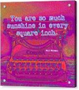 Walt Whitman Quote Typewriter Acrylic Print