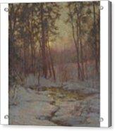 Walter Launt Palmer 1854-1932 Winter Stream At Sunset Acrylic Print