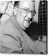 Walter O'malley President Of The Brooklkyn Dodgers. 1955 Acrylic Print