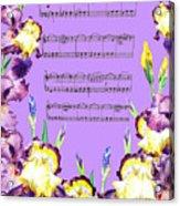 Waltz Of The Flowers Dancing Iris Acrylic Print