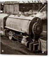 Wanamie Pennsylvania Coal Mine Locomotive Lokey 1969... Acrylic Print