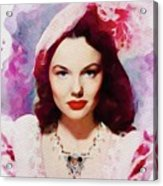 Wanda Hendrix, Vintage Movie Star Acrylic Print