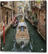 Wandering The Beautiful Venice Canals Acrylic Print