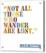 Wanderlust Acrylic Print by Cindy Greenbean