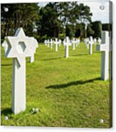 War Crosses In Normandy Acrylic Print