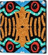 War Eagle Totem Mosaic Acrylic Print