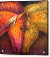 War Horse And Peace Horse Acrylic Print