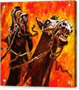 War Horses Acrylic Print