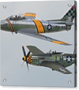 Warbirds Heritage F-86 Sabre And P-51 Mustang Acrylic Print