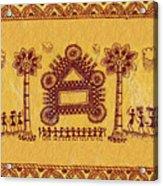 Warli Ceremony Acrylic Print