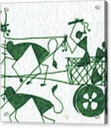 Warli Farmers In Bullock Cart Acrylic Print