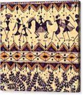 Warli Procession Acrylic Print