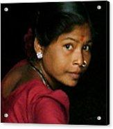 Warli Woman Acrylic Print