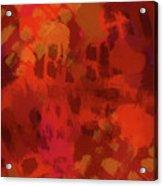 Warm Abstract 1 Acrylic Print