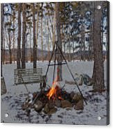 Warm Camp Fire Acrylic Print