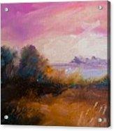 Warm Colorful Landscape Acrylic Print