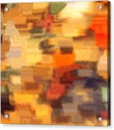Warm Colors Under Glass - Abstract Art Acrylic Print