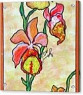Warm Flower Study Acrylic Print