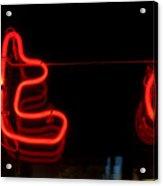 Warm Neon Acrylic Print