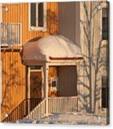 Warm Vinter Facade Acrylic Print