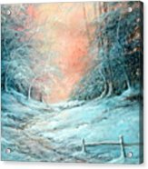 Warm Winter Fantasy Acrylic Print