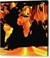 Warming World Map Acrylic Print