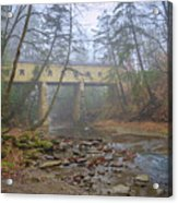 Warner Hollow Rd Covered Bridge Acrylic Print