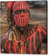 Warpath Shawnee Indian Acrylic Print by Randy Steele