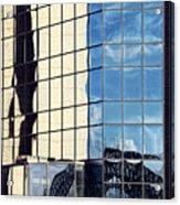 Warped Harbour Bridge Reflection By Kaye Menner Acrylic Print