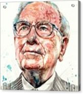 Warren Buffett Portrait Acrylic Print