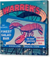 Warrens Lobster House Neon Sign Kittery Maine Acrylic Print