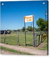 Warrenton Texas Antique Days Park Here Acrylic Print