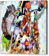 Warrior Dance Acrylic Print