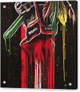 Warrior Glove On Black Acrylic Print