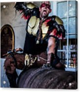 Warrior On A Cannon - New Orleans Acrylic Print
