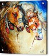 Warrior Spirits Two Acrylic Print
