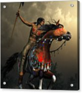 Warriors Of The Plains Acrylic Print