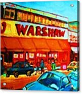 Warshaws Fruitstore On Main Street Acrylic Print