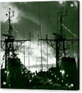 Warships At Twilight Acrylic Print