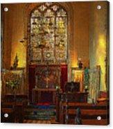 Warwick Castle Chapel Acrylic Print by Chris Lord